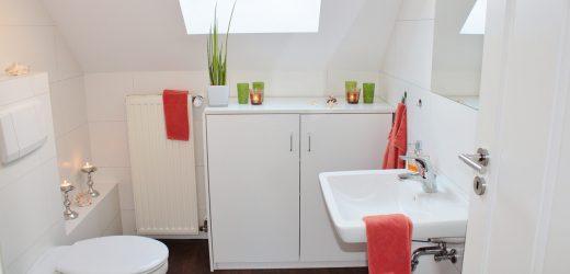 Suszenie prania w małej łazience