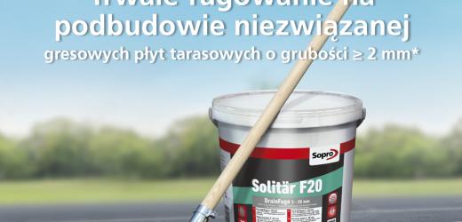 Prościej się nie da! Nowość w ofercie Sopro – nowoczesna, wodoprzepuszczalna fuga drenażowa Solitӓr F20