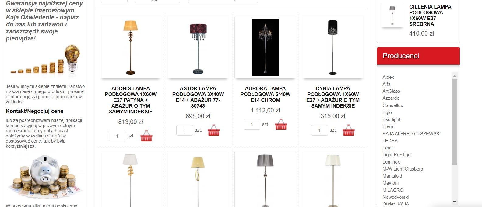Wybór lampy do salonu